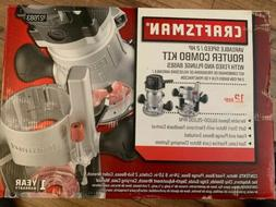 Craftsman 12 Amp 2 HP Fixed and Plunge Base Router with Soft