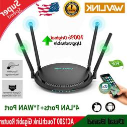Wavlink 1200Mbps Smart WiFi Router Touchlink 2.4G&5G Dual-Ba