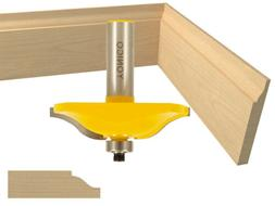 Yonico 12134 Base Board/Panel Raiser Ogee Router Bit with 2-