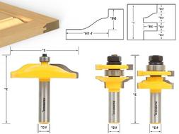 Yonico 12335 Raised Panel Cabinet Door Router Bit Set with 3