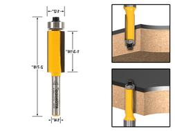 """Yonico 14139q Flush Trim Router Bit, End Bearing with 1/2"""" x"""