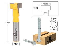 Yonico 14190q T-Slot Cutter Router Bit for 38-Inch Hex Bolt