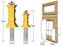 """Yonico 16266 Mitered Door Molding Router Bit with 1/2"""" Shank"""