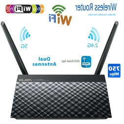 ASUS 2.4/5GHz Dual Band USB Wireless Home Router 750Mbps Wif