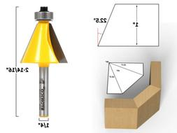 """22.5 Degree Chamfer Edge Forming Router Bit - 1/4"""" Shank - Y"""