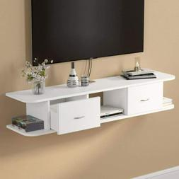 Tribesigns 2Tier Modern Wall Mount Floating Shelf for Cable