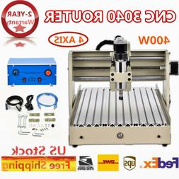 Generic 4 Axis 3040 CNC Router Engraver Wood Mill Engraving