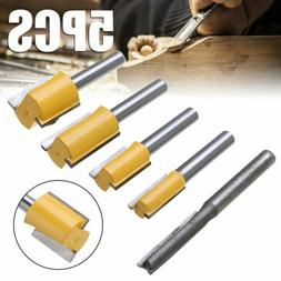 5X Straight Dado Router Bits Set 1/4 Inch Shank Trimming Cut