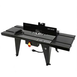 """Aluminum Router Table Benchtop 34""""x13"""" Deluxe w/ On/off Swit"""