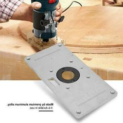 Aluminum Router Table Insert Plate With 4 Rings Screws For W