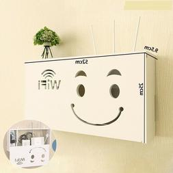 Box Storage Shelf Wall Router Wireless Hanging Bracket Cable