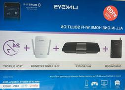 Linksys F5Z0644 Cable Modem & AC1600 WiFi Router & AC1200 Ex