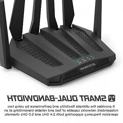 Dual Band Gaming Router Wide Mbps Sq