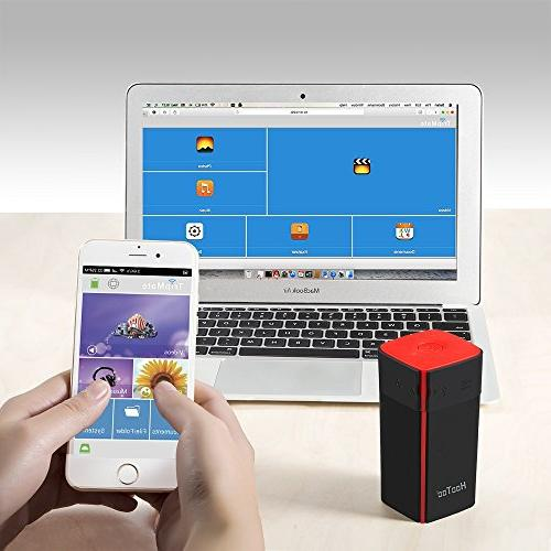 HooToo Wireless Router, 10400mAh External Travel Charger with USB Titan