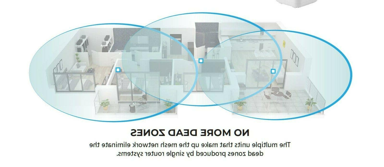 Whole Home Mesh System Router and 2 Satellite