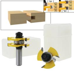 Matched Tongue and Groove Router Bit Set Up to 3/4 Inch Stoc