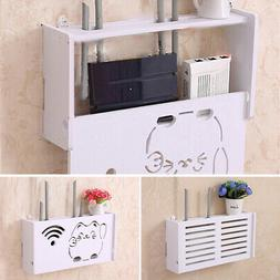 No Drill Cable Router Storage Box Shelf Wall Hangings Bracke