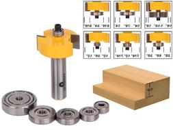 Rabbet Router Bit with 6 Bearings Set - 12 Shank - Yonico 14