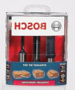 """Bosch RBS022XW 3 Piece 1/2"""" Shank Straight / Mortising Route"""
