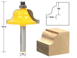 """9/16"""" Roman Ogee Edge Forming Router Bit - 1/4"""" Shank - Yoni"""