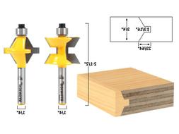 Small 2 Bit Tongue and Groove Edge Banding Router Bit Set -