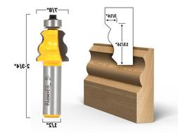 """Small Standard Crown Cap Molding Router Bit - 1/2"""" Shank - Y"""