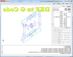 Software for Converting 2D DXF Drawings to CNC Machine G-Cod