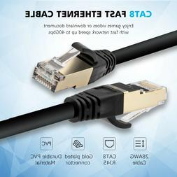 Top-Quality CAT 8 Ethernet Cable, 6FT LOT for Gaming PC TV P