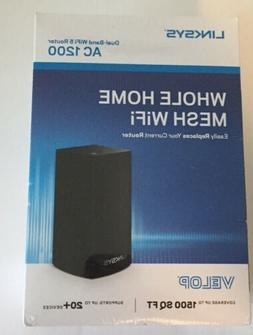 Linksys Velop Whole Home Mesh Dual Band WiFi 5 Router AC 120