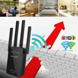2.4GHz AC1200 WiFi Repeater Wireless 300m Extender Router Du